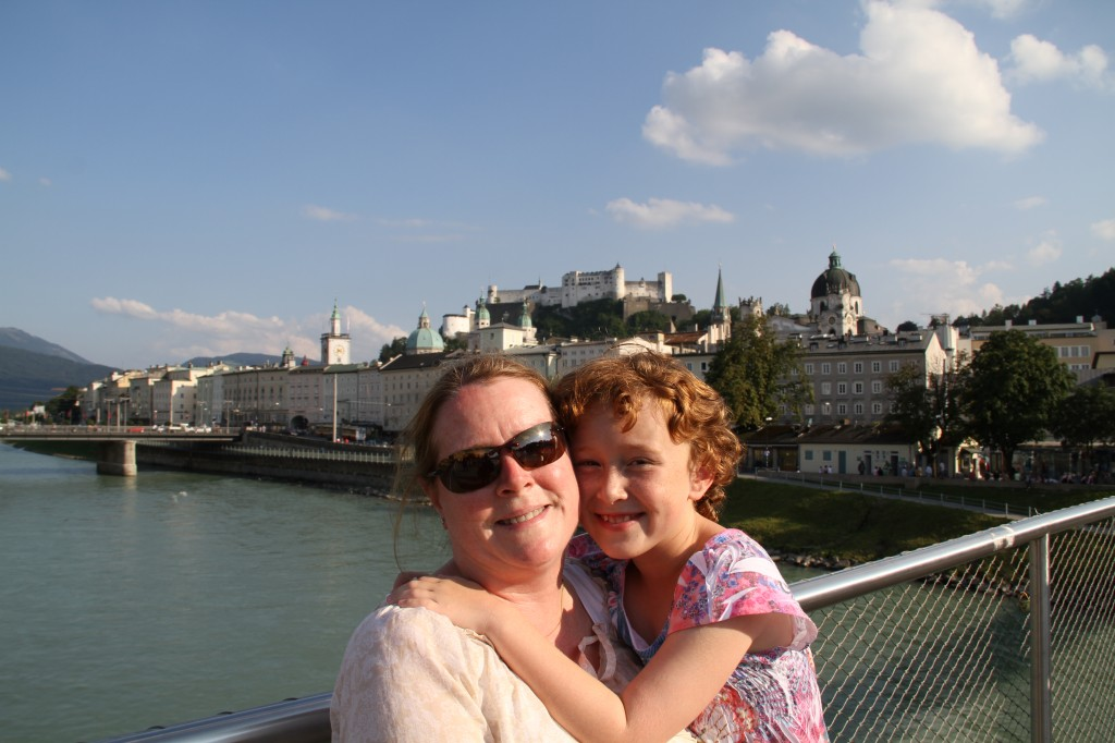 Kim and Sydney in Salzburg, Austria